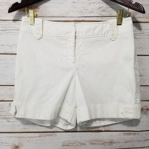 White House Black Market White Shorts Sz 2
